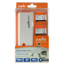 Afbeelding van Jupio PowerVault Action 4 (for GoPro HERO 4) + 2x AHDBT-401 1160 mAh
