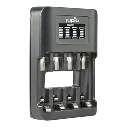 Afbeelding van Jupio USB 4-slots Ultra Fast Battery Charger LCD
