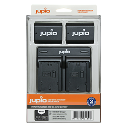 Afbeelding van Jupio Value Pack: 2x Battery NP-FZ100 2040mAh + USB Dual Charger