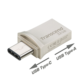 Afbeelding van Transcend 32GB JetFlash 890 Silver Plating (USB 3.1 Type A | Type C ) | R 130MB/s