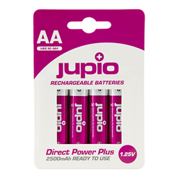 Afbeelding van Rechargeable Batteries AA 2500 mAh 4 pcs DIRECT POWER PLUS