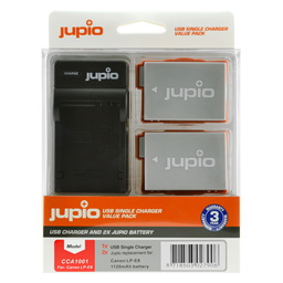 Afbeelding van Jupio Value Pack: 2x Battery LP-E8 1120mAh + USB Single Charger