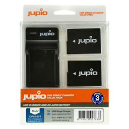 Afbeelding van Jupio Value Pack: 2x Battery DMW-BLC12E + USB Single Charger