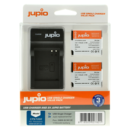 Afbeelding van Jupio Value Pack: 2x Battery DMW-BCM13E 1150mAh + USB Single Charger