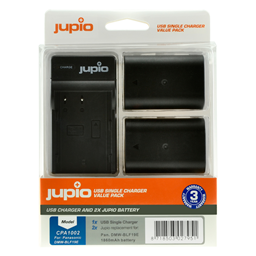Afbeelding van Jupio Value Pack: 2x Battery DMW-BLF19E 1860mAh + USB Single Charger