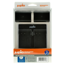 Afbeelding van Jupio Value Pack: 2x Battery DMW-BLF19E 1860mAh + USB Dual Charger