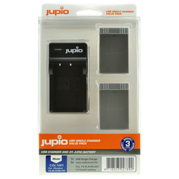Afbeelding van Jupio Value Pack: 2x Battery PS-BLS5 / PS-BLS50 1210mAh + USB Single Charger