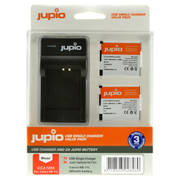 Afbeelding van Jupio Value Pack: 2x Battery NB-11L + USB Single Charger
