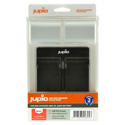 Afbeelding van Jupio Value Pack: 2x Battery LP-E6N *ULTRA* 2040mAh + USB Dual Charger