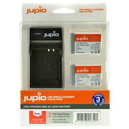 Afbeelding van Jupio Value Pack: 2x Battery NB-13L + USB Single Charger