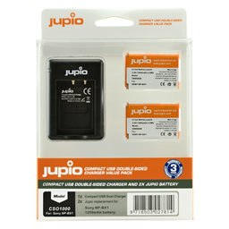 Afbeelding van Jupio Value Pack: 2x Battery NP-BX1 + Compact USB Double-Sided Charger