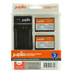 Afbeelding van Jupio Value Pack: 2x Battery LP-E10 + USB Single Charger