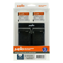 Afbeelding van Jupio Value Pack: 2x Battery DMW-BCM13E 1150mAh + USB Dual Charger
