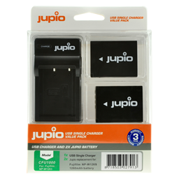 Afbeelding van Jupio Value Pack: 2x Battery NP-W126S + USB Single Charger